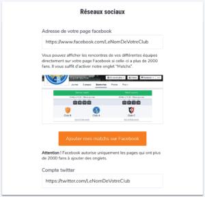 Espace administration score'n'co - réseaux sociaux