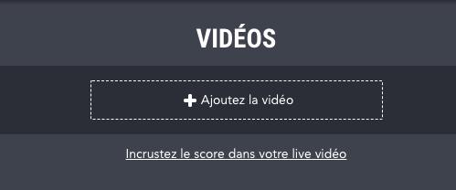 Incruster le score dans un live video