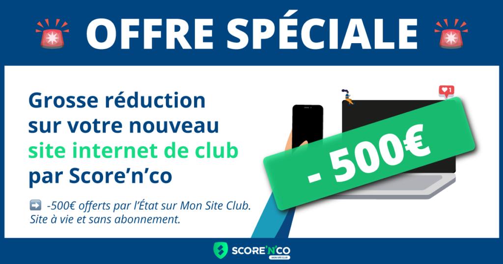 Offre spéciale avec 500€ offerts par l'État pour un site internet