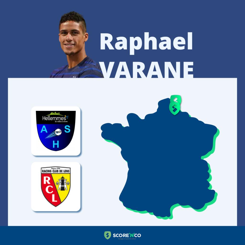 Parcours des clubs en France du joueur Raphael Varane