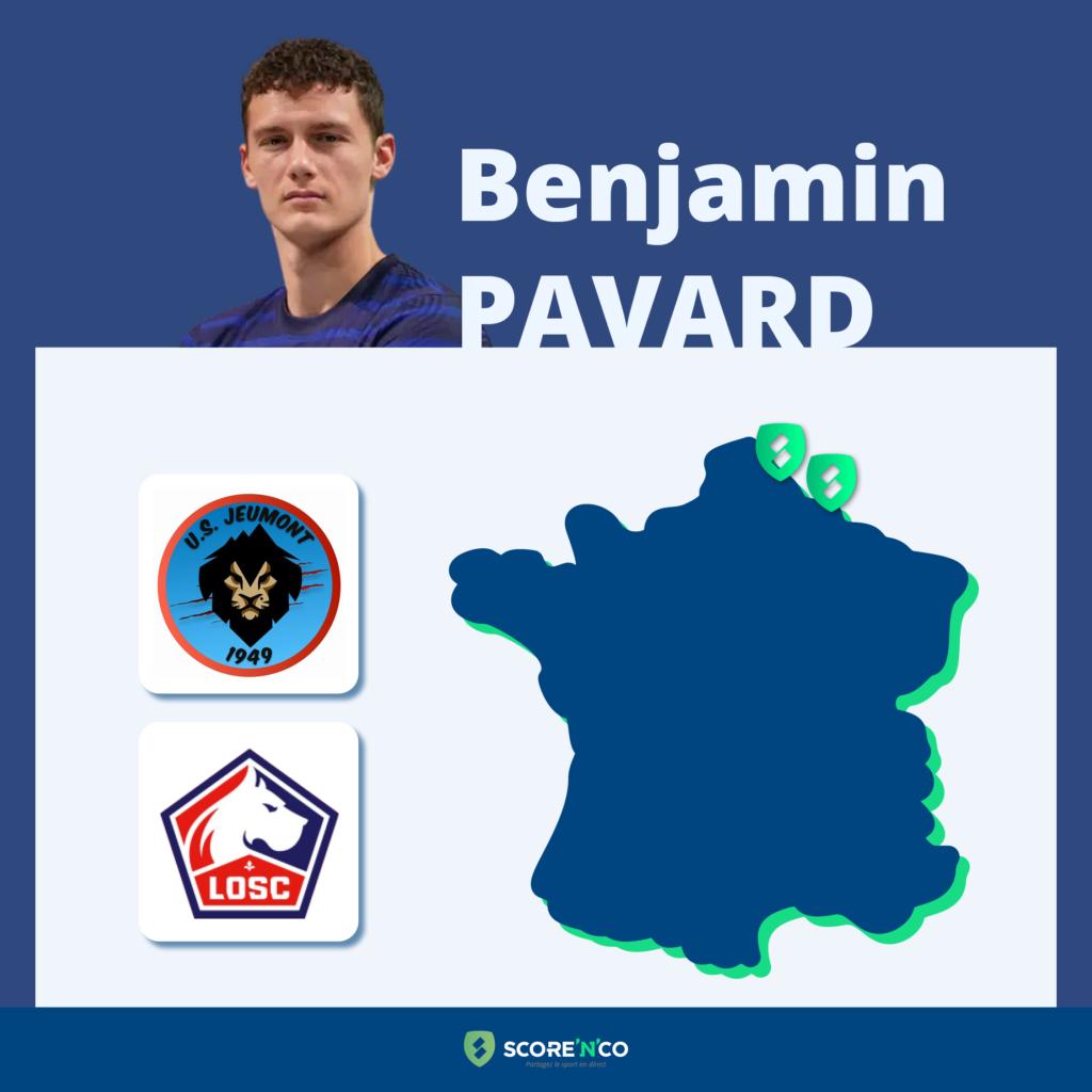 Parcours des clubs en France du joueur Benjamin Pavard