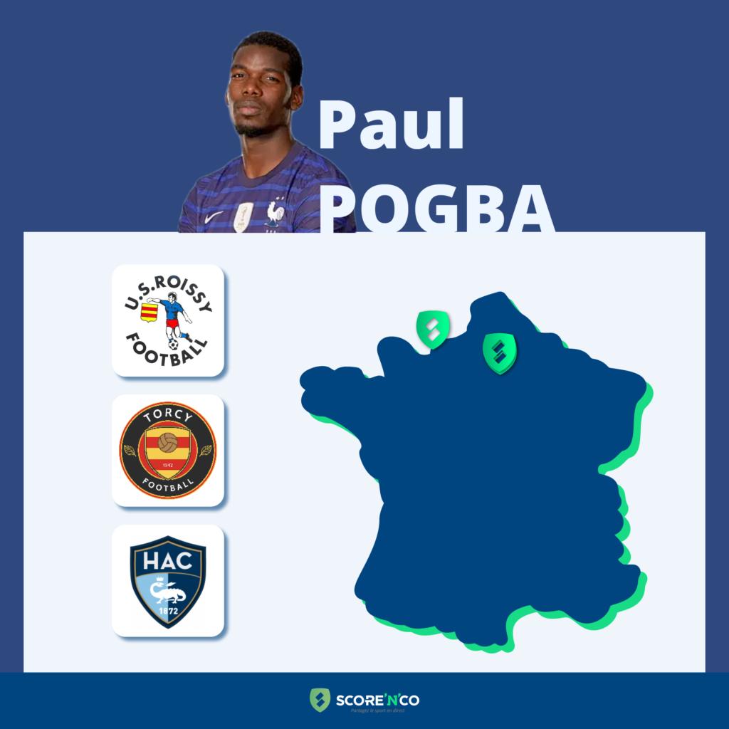 Parcours des clubs en France du joueur Paul Pogba