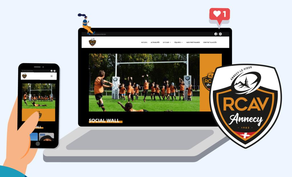 Image nouveau site RCAV par Score'n'co