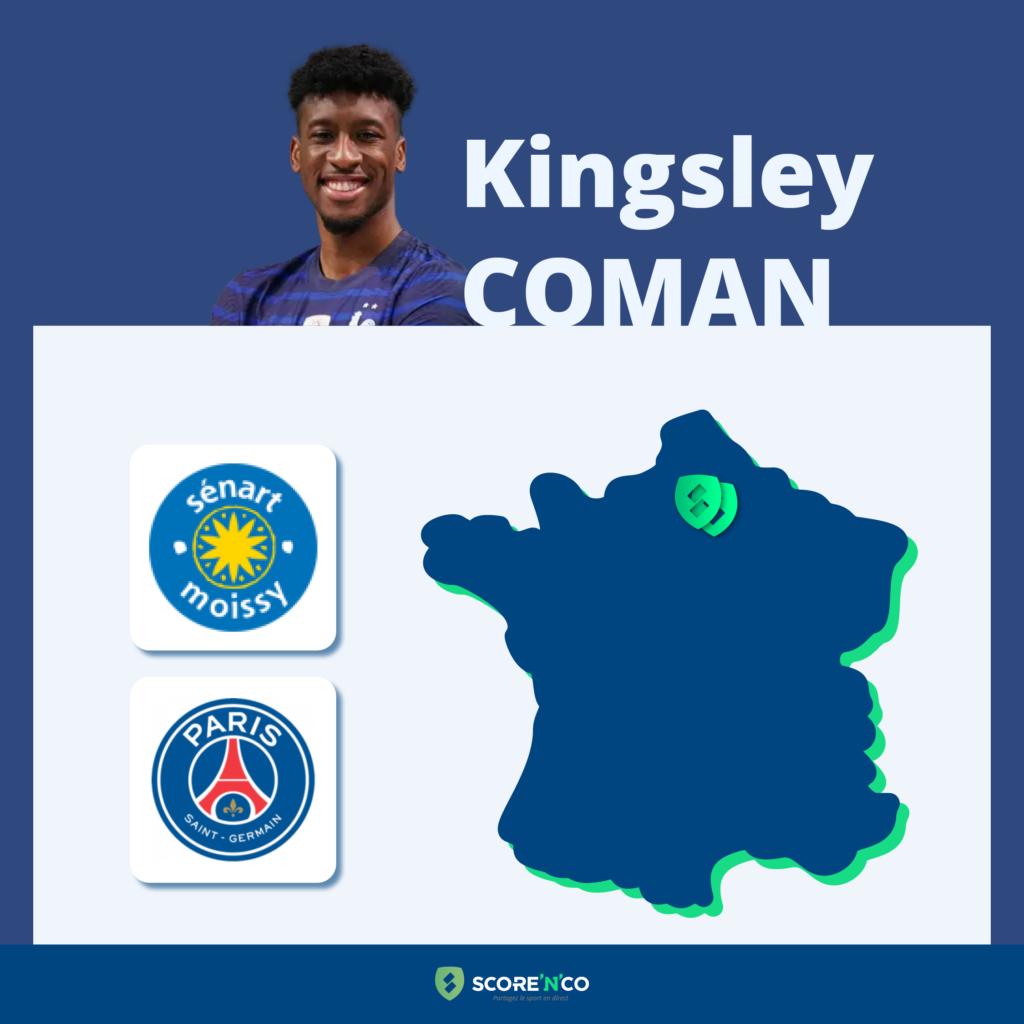 Parcours des clubs en France du joueur Kingsley Coman