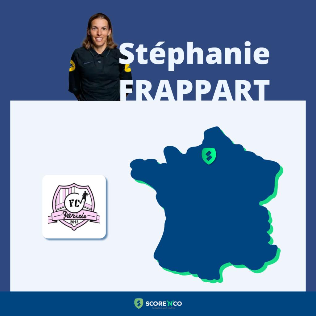 Parcours des clubs en France en tant que joueuse de Stéphanie Frappart