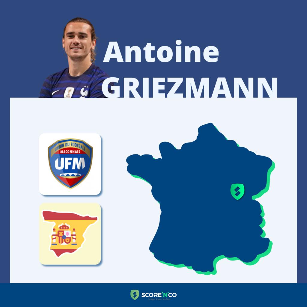 Parcours des clubs en France du joueur Antoine Griezmann