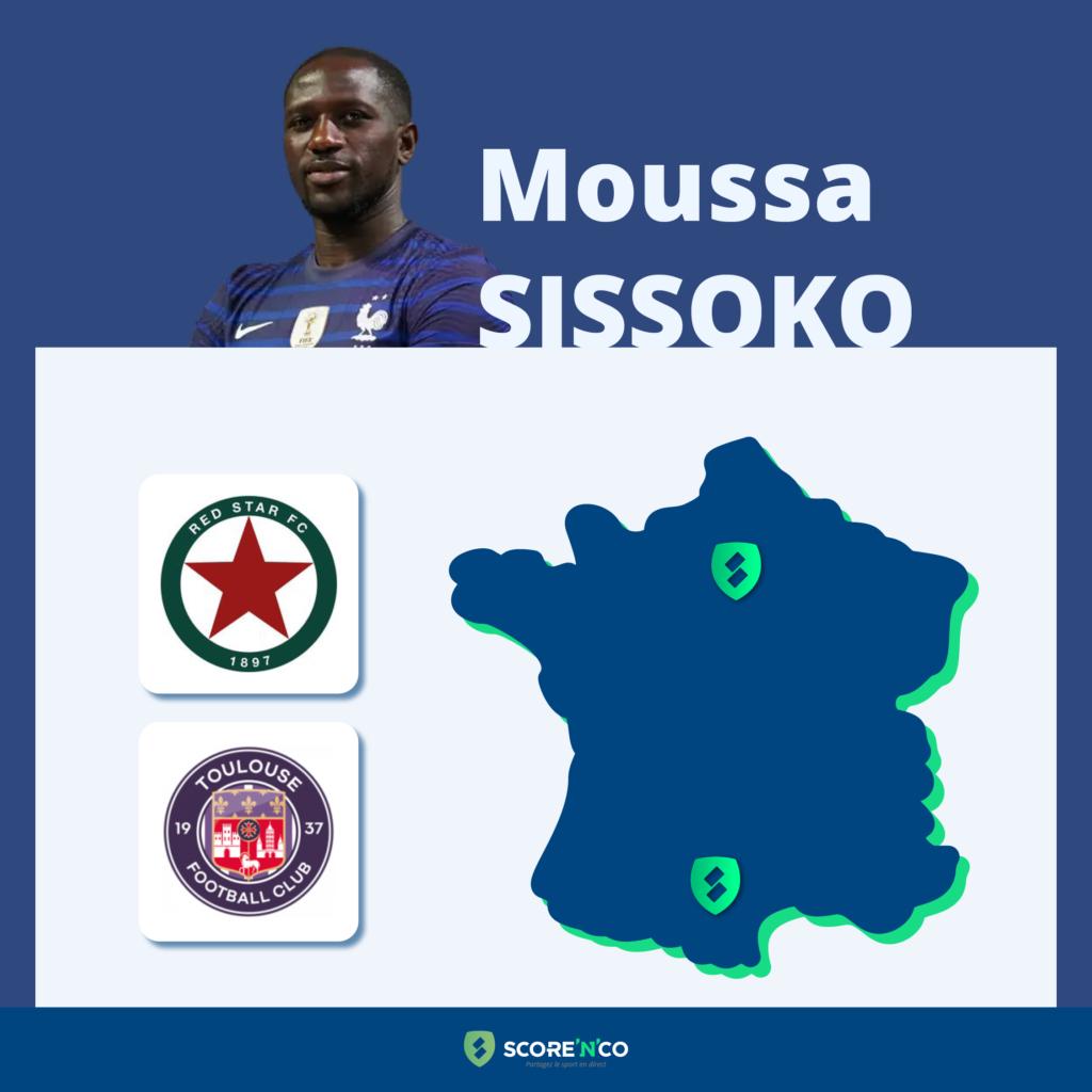 Parcours des clubs en France du joueur Moussa Sissoko