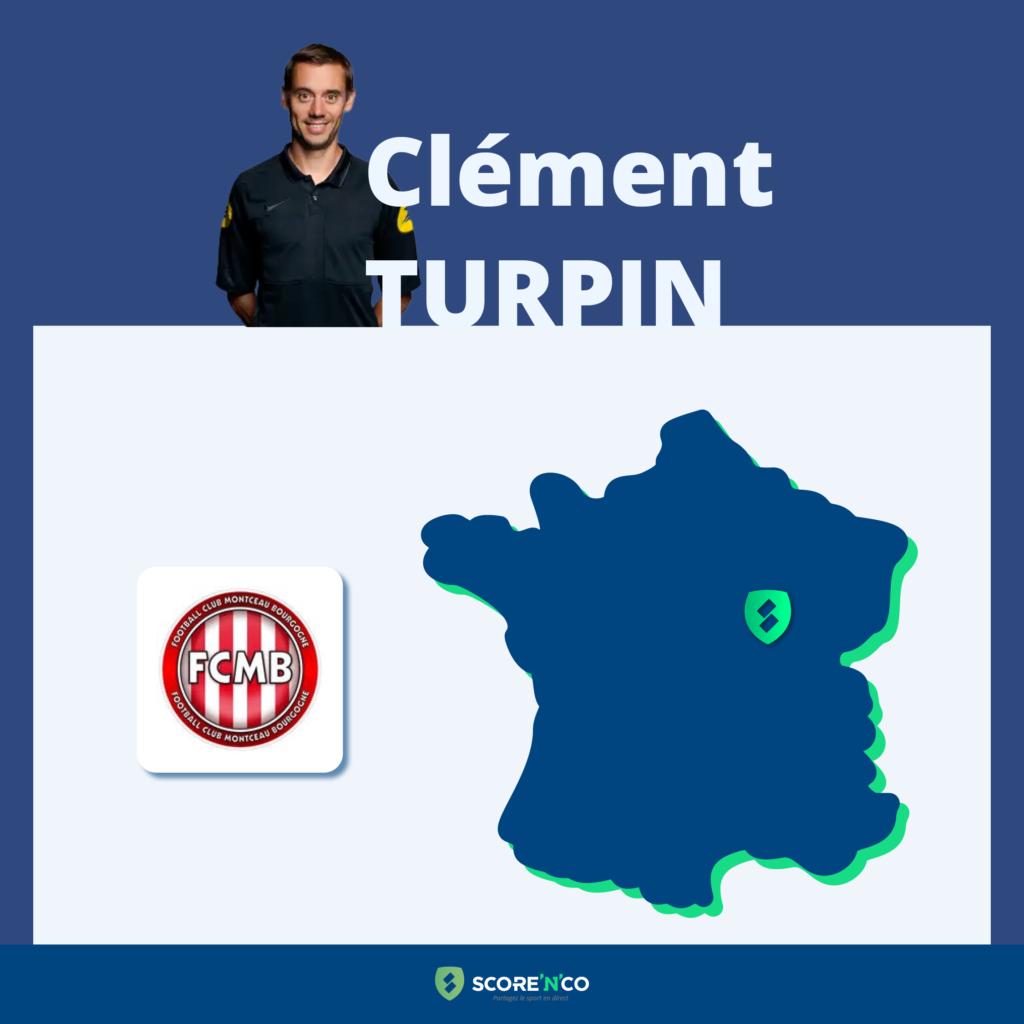 Parcours des clubs en France en tant que joueur de Clément Turpin