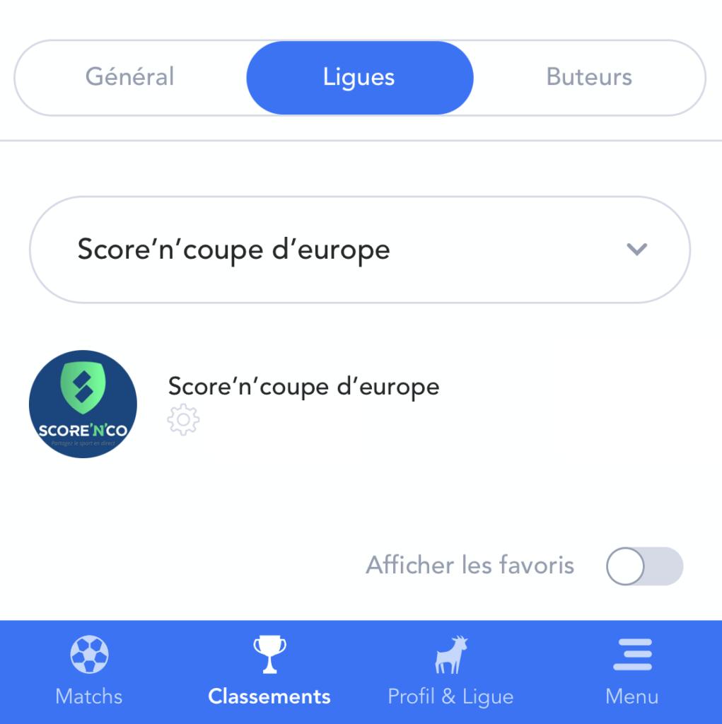 La ligue Score'n'co sur MPP pour l'Euro 2020