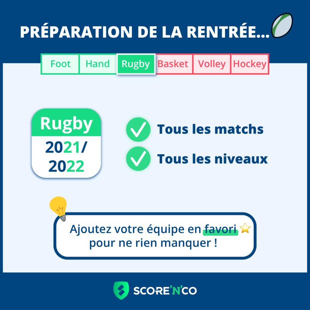 Les calendriers de rugby ont été mis à jour